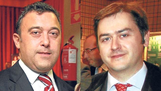 Los ex alcaldes de Alonsotegi.